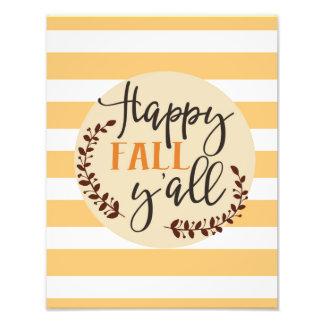 Happy Fall Y'all Photo Print