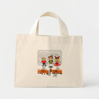 Happy Family Canvas Bags
