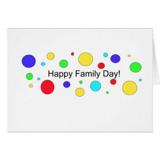 Happy Family Day! Greeting Card