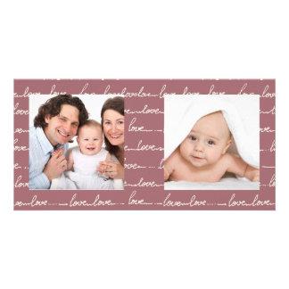 Happy Family LOVE Photo Card