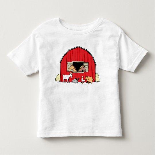 Happy Farm Barnyard Animals Toddlers T-Shirt