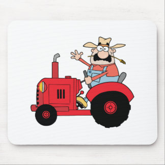 Happy Farmer Mouse Mat