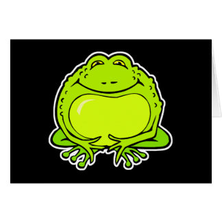 happy fat frog greeting card