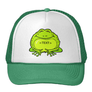 happy fat frog, <TEXT> Cap