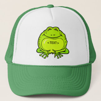 happy fat frog, <TEXT> Trucker Hat