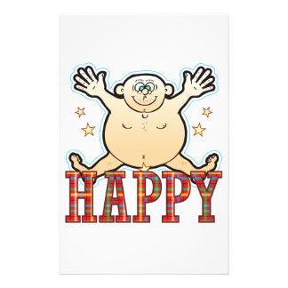 Happy Fat Man Stationery