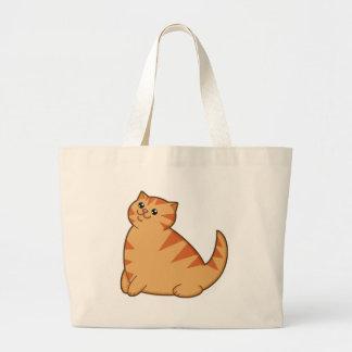 Happy Fat Orange Cat Bags
