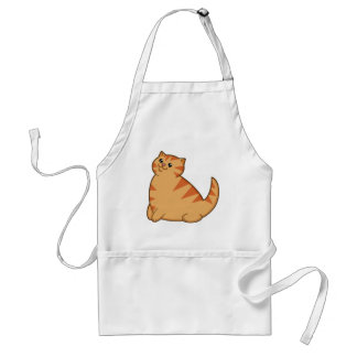 Happy Fat Orange Cat Standard Apron