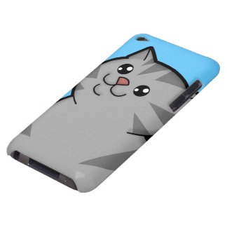 Happy Fat Silver Tabby Cat iPod Touch Case