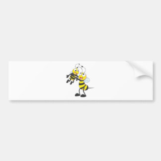 Happy Father and Son Bee Having Fun Bumper Stickers