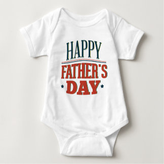 Happy Father's Day Baby Bodysuit