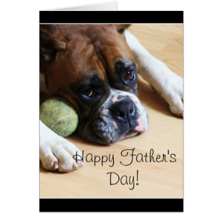 Happy Father s Day Boxer Dog Greeting Card