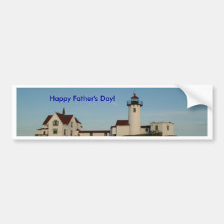Happy Father s Day Lighthouse Bumper Sticker