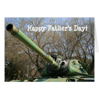 Happy Father's Day Army Tank greeting card