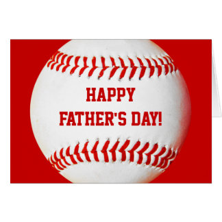 Happy Father's Day Baseball Card