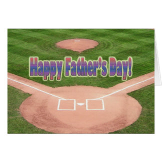 Happy Fathers Day Baseball Greeting Card