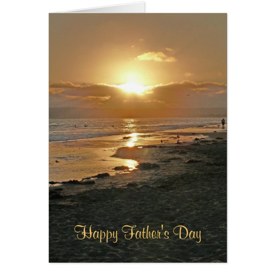 Happy Father's Day Beach Sunset Card