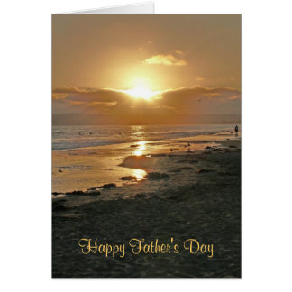 Happy Father's Day Beach Sunset Greeting Card