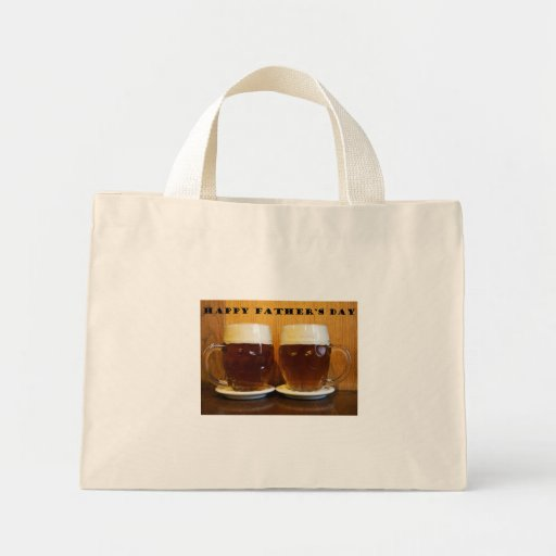 Happy Fathers Day Beer Tankards Canvas Bags