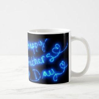 Happy Father's Day Blue Lights Coffee Mug