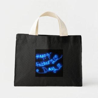 Happy Father's Day Blue Lights Mini Tote Bag