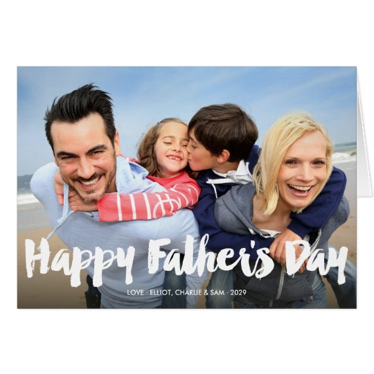 Happy Father's Day Bold Brush Script Photo Card