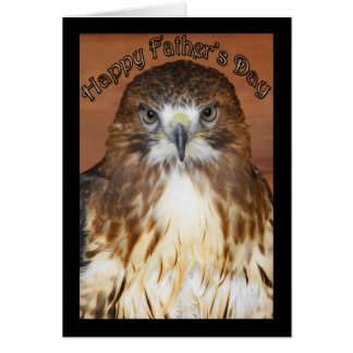 Happy Father's Day Card with Red Tailed Kite