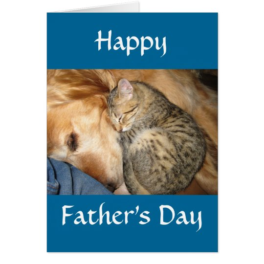 Happy Father's Day - Cat and Dog Card
