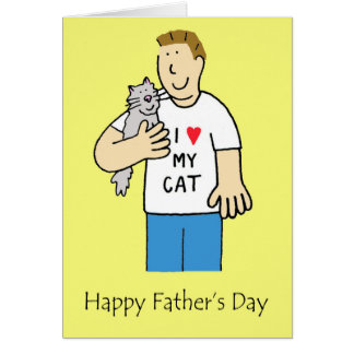 Happy Father's Day Cat lover Greeting Card