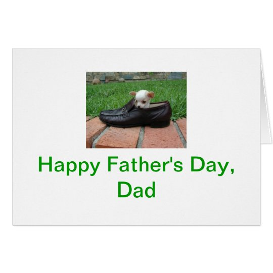 Happy Father's Day Chihuahua Card