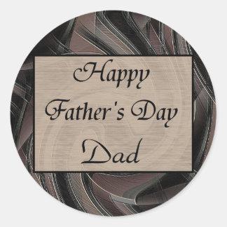 Happy Father's Day Classic Round Sticker