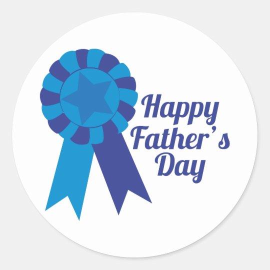 Happy Fathers Day Classic Round Sticker