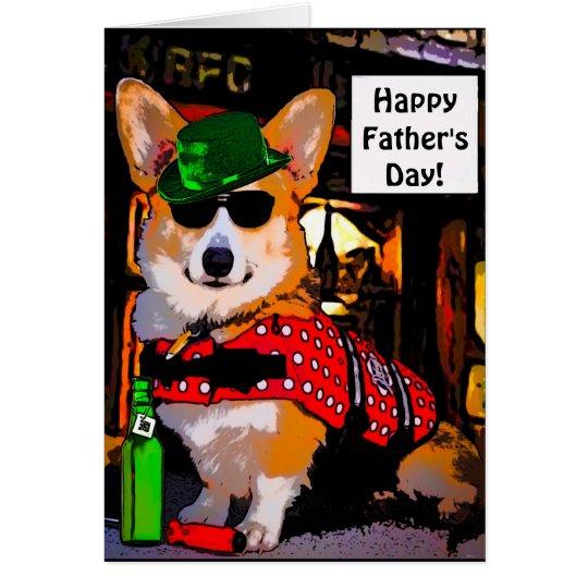 Happy Father's Day Corgi Card