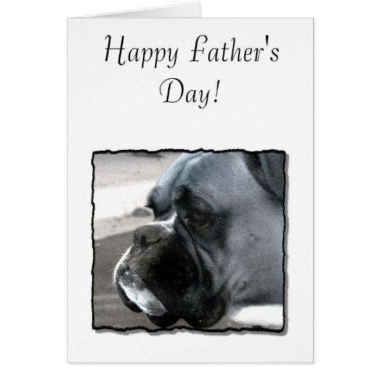 Happy Father's Day Dad Boxer Greeting Card