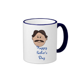 Happy Father's Day Dad with moustache Mug