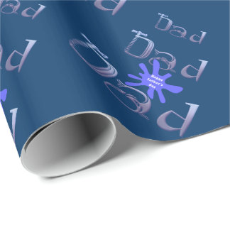 Happy Fathers Day Dad Wrapping Paper