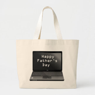 Happy Fathers Day Dads Laptop Jumbo Tote Bag