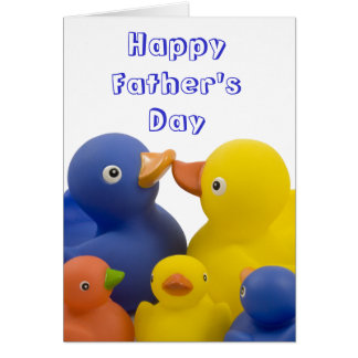 Happy Father's Day Duck Family Group Greeting Card