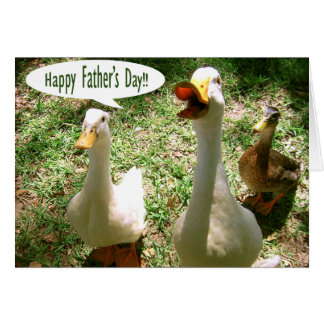 Happy Father's Day - Ducks Greeting Card