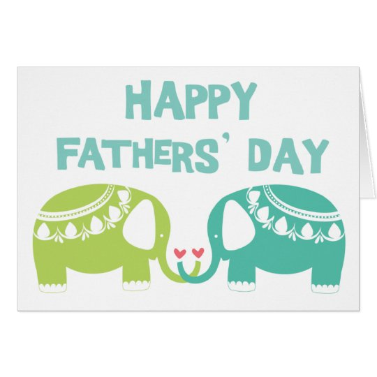 Happy Fathers' Day - Elephants Card