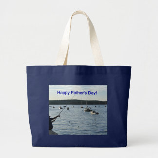 Happy Father's Day, fisherman Canvas Bag