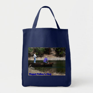 Happy Fathers Day Fishing Grocery Tote Bag