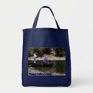 Happy Fathers Day Fishing Mini Tote Bag