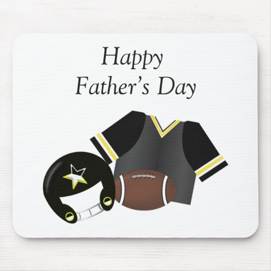 Happy Father's Day (football - black) Mouse Pad