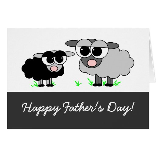 Happy Father's Day! From Your Little Black Sheep Greeting Card