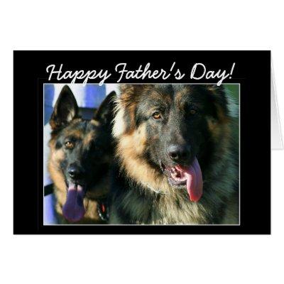 Fathers day german shepherd dog card zazzle m4hsunfo
