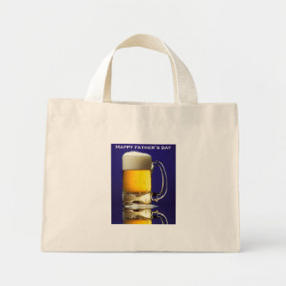 Happy Fathers Day Glass of Beer Bag