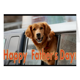 Happy Father's Day Golden Retriever card
