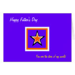 Happy father's day greeting cards-the stars