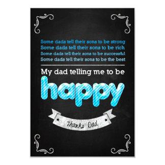 """Happy Father's day 3.5"""" X 5"""" Invitation Card"""
